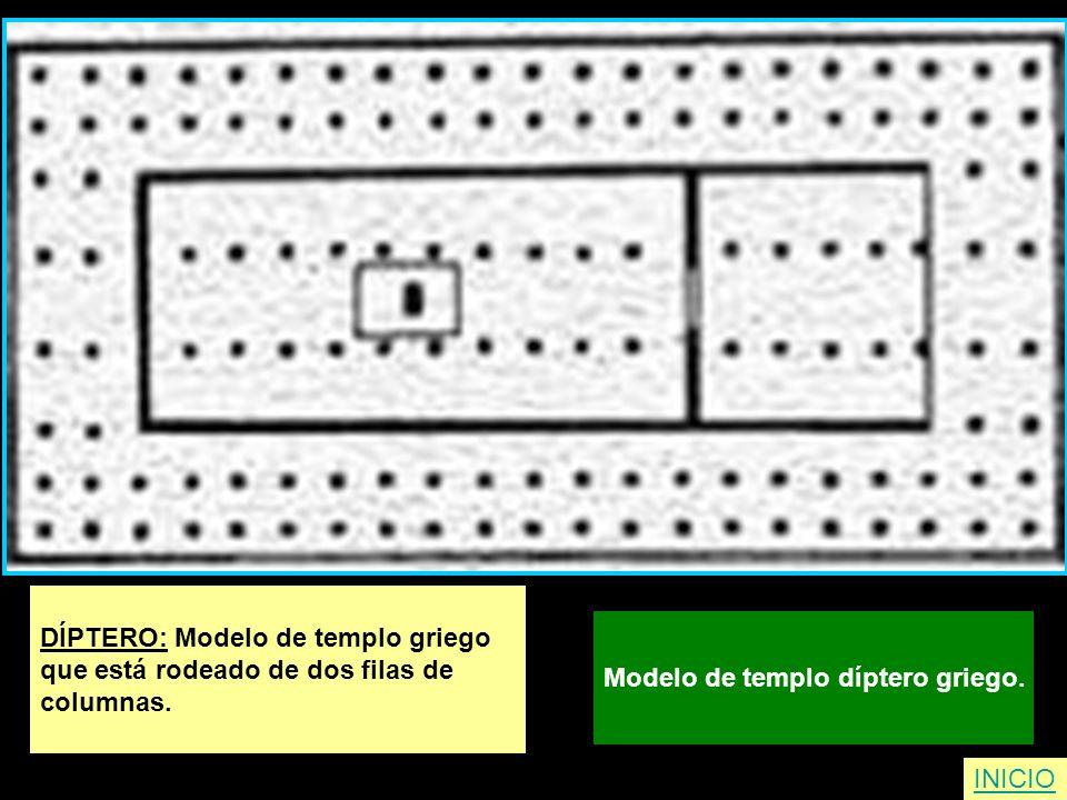 DÍPTERO: Modelo de templo griego