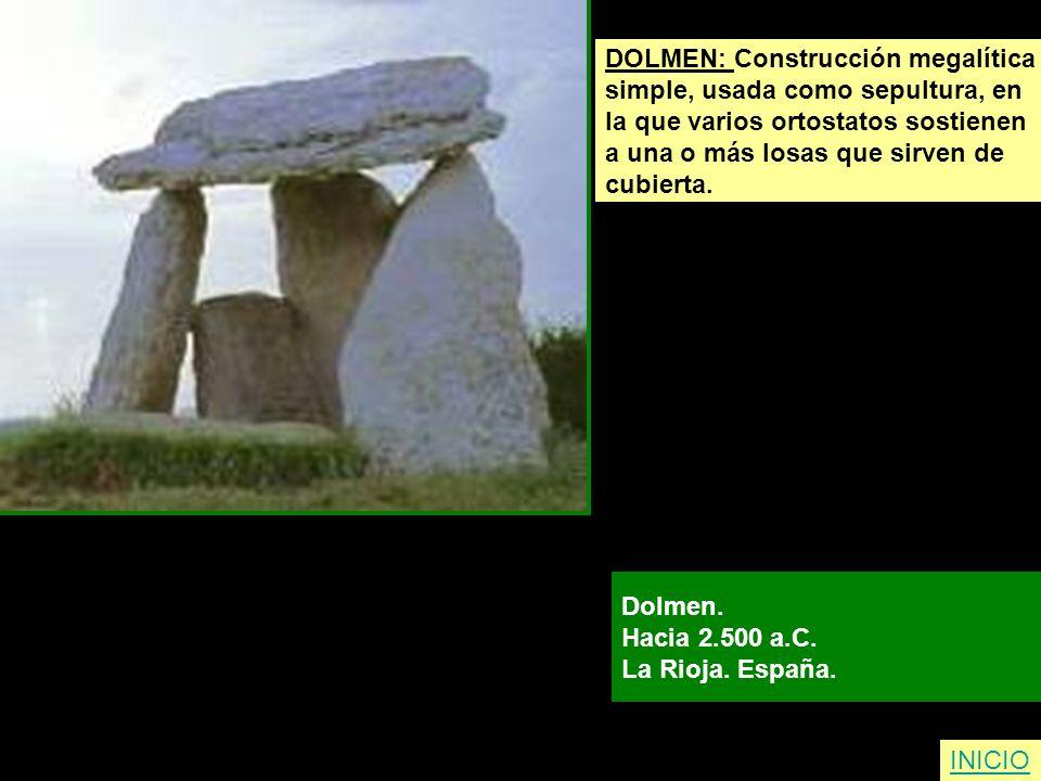DOLMEN: Construcción megalítica