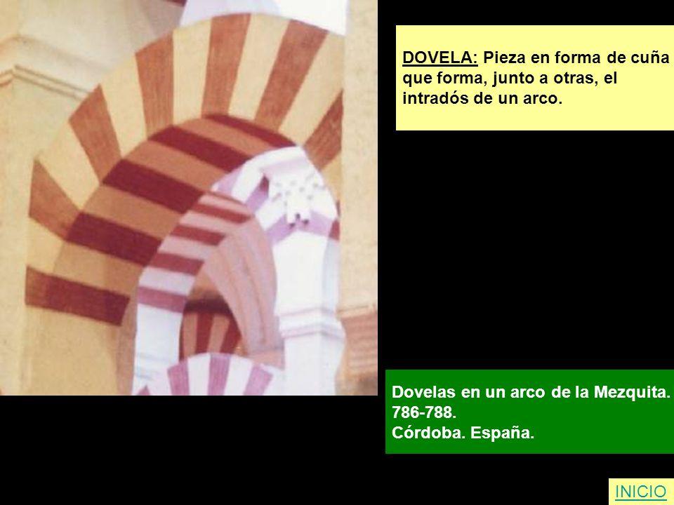DOVELA: Pieza en forma de cuña
