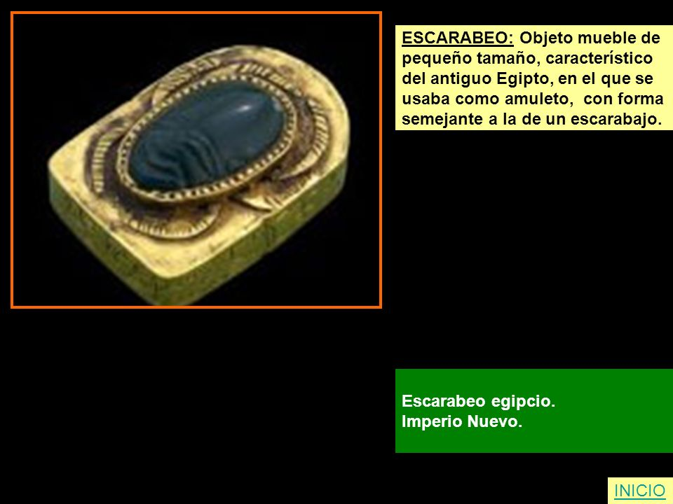 ESCARABEO: Objeto mueble de