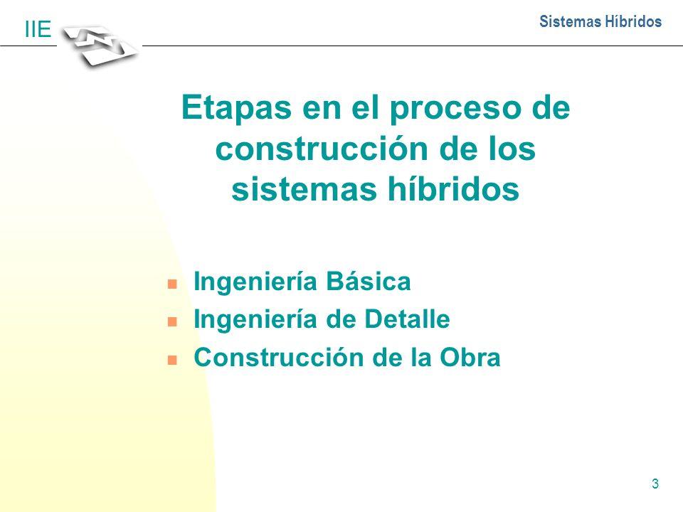 Etapas en el proceso de construcción de los sistemas híbridos