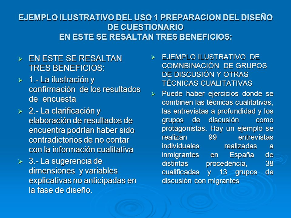 EN ESTE SE RESALTAN TRES BENEFICIOS: