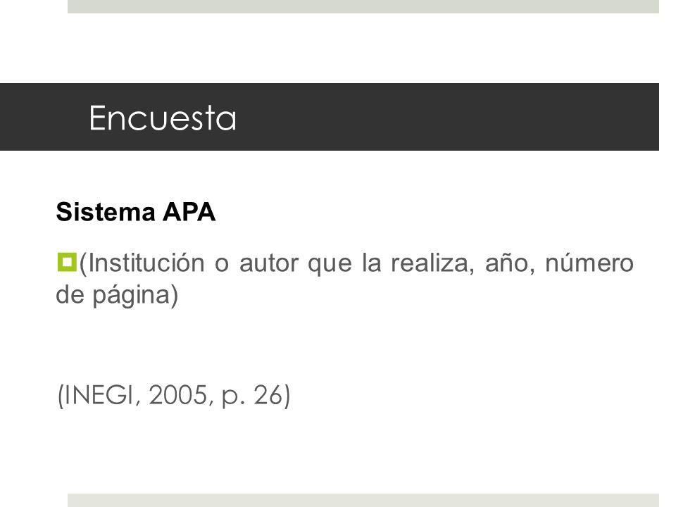 Encuesta Sistema APA.
