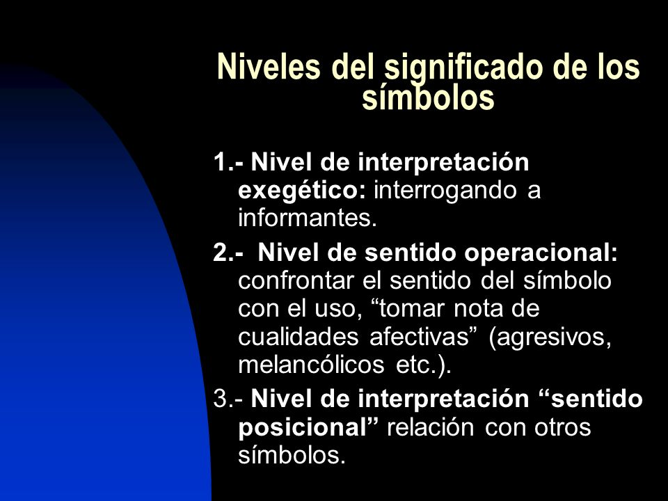 Niveles del significado de los símbolos