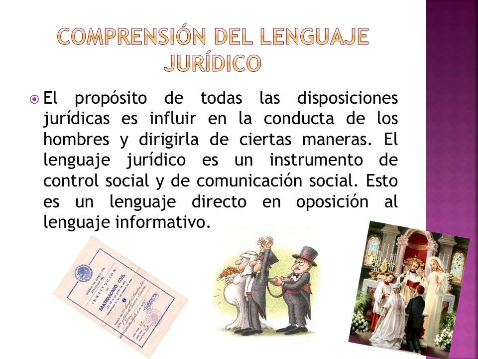 COMPRENSIÓN DEL LENGUAJE JURÍDICO