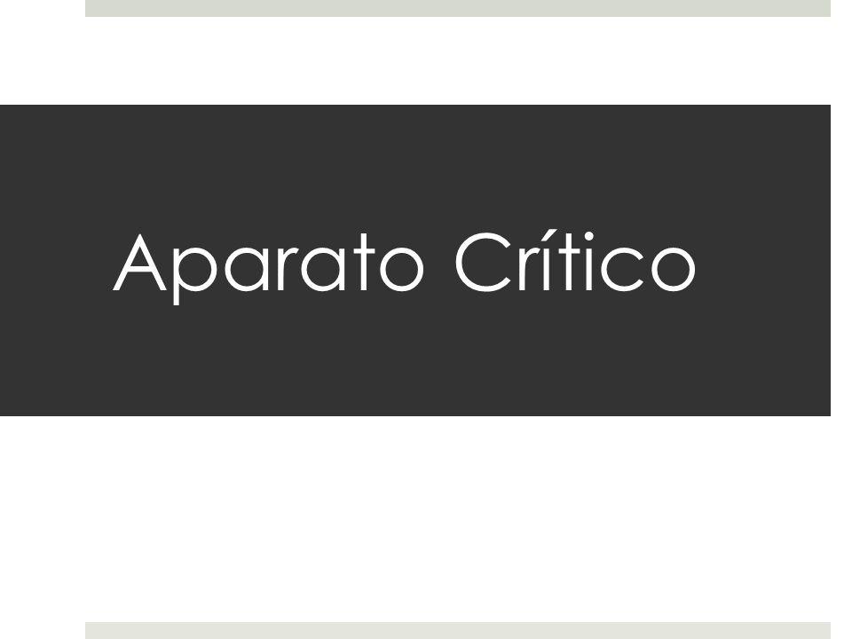 Aparato Crítico