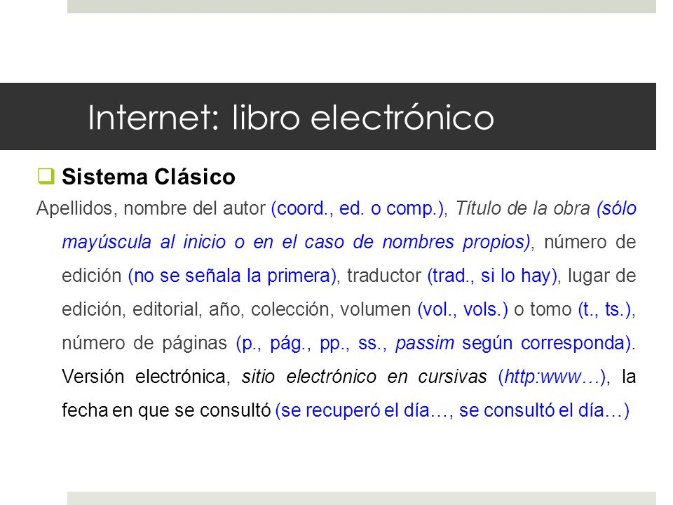 Internet: libro electrónico