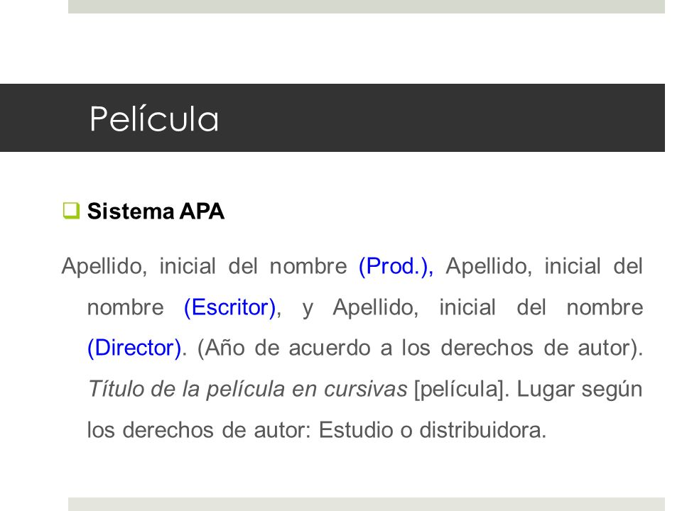 Película Sistema APA.