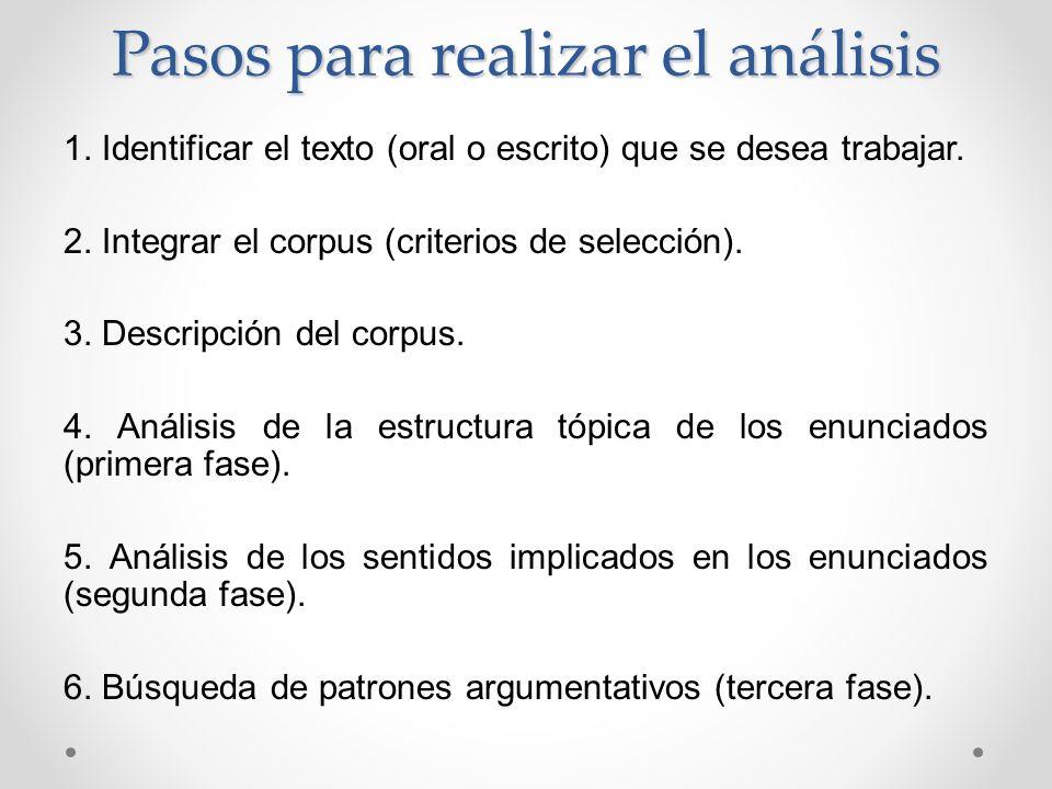 Pasos para realizar el análisis