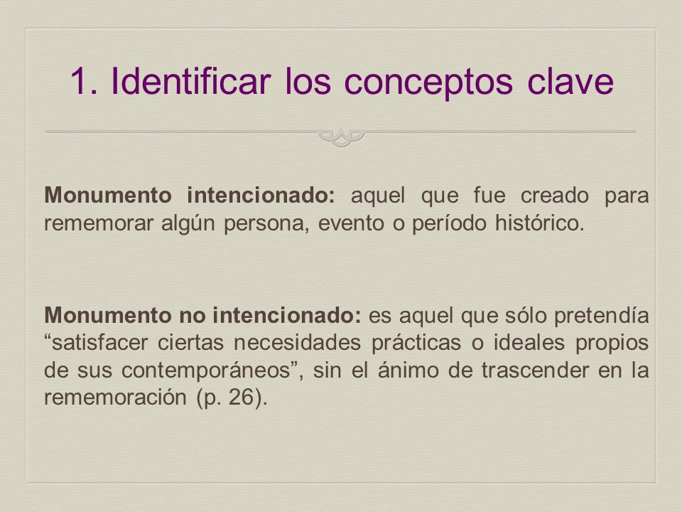 1. Identificar los conceptos clave