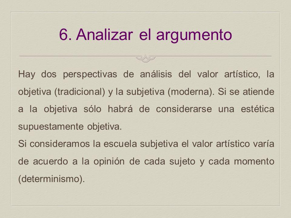 6. Analizar el argumento