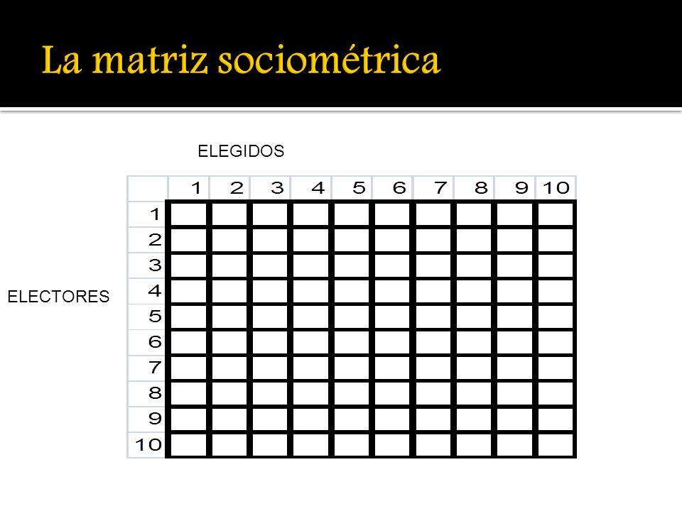 La matriz sociométrica