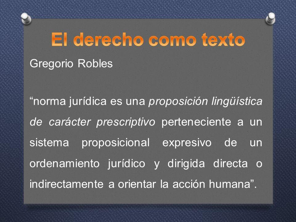 El derecho como texto