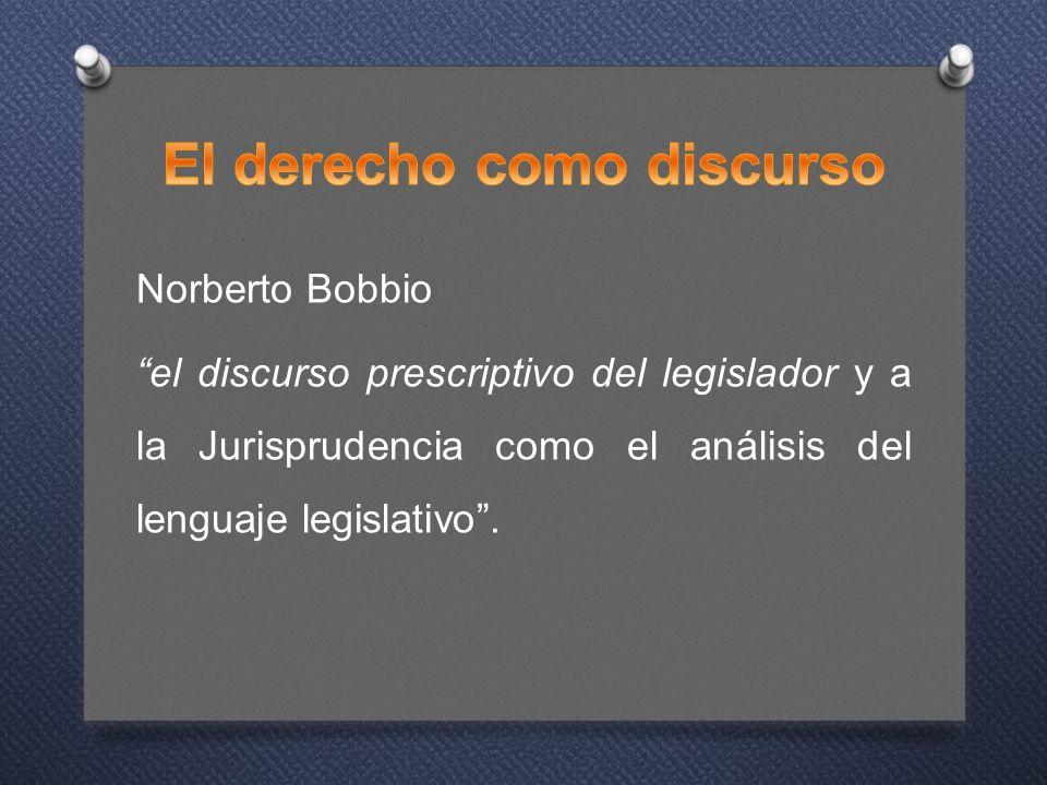 El derecho como discurso