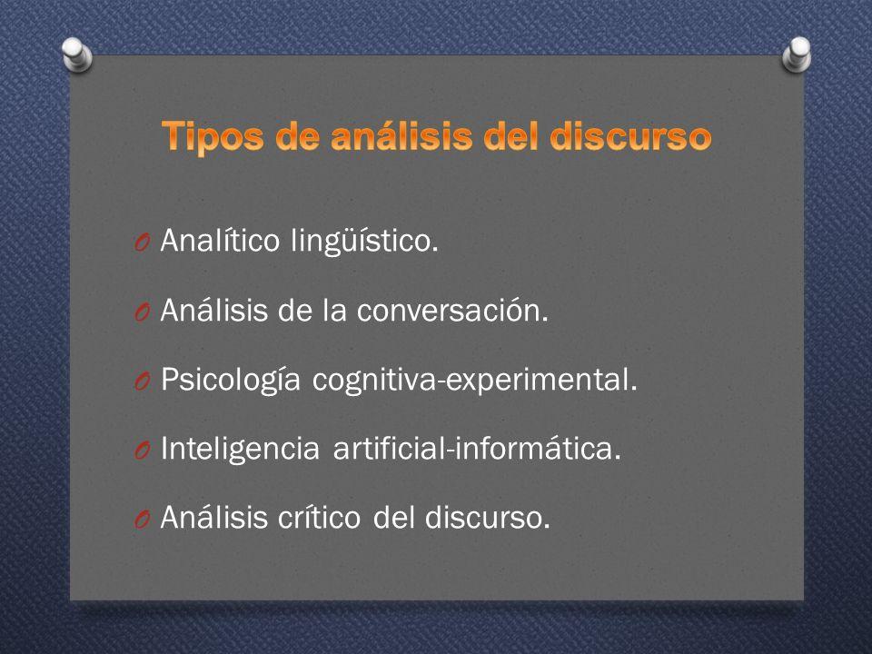 Tipos de análisis del discurso