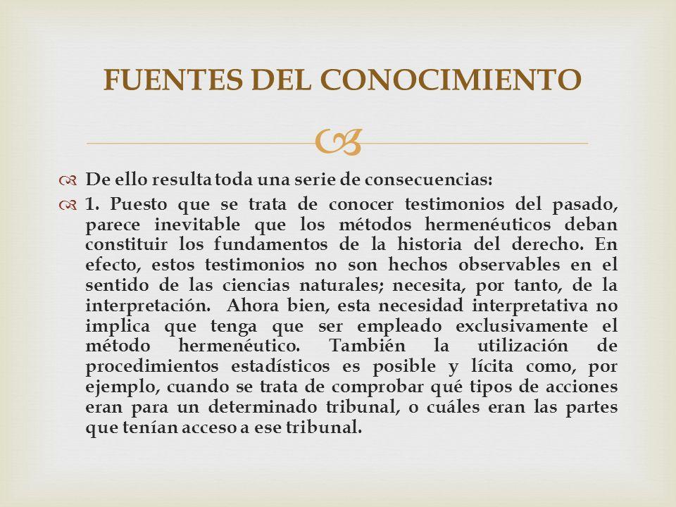 FUENTES DEL CONOCIMIENTO