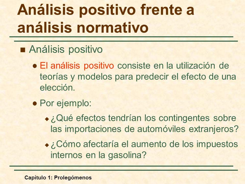 Análisis positivo frente a análisis normativo