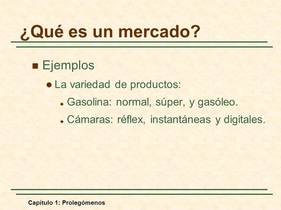 ¿Qué es un mercado Ejemplos La variedad de productos: