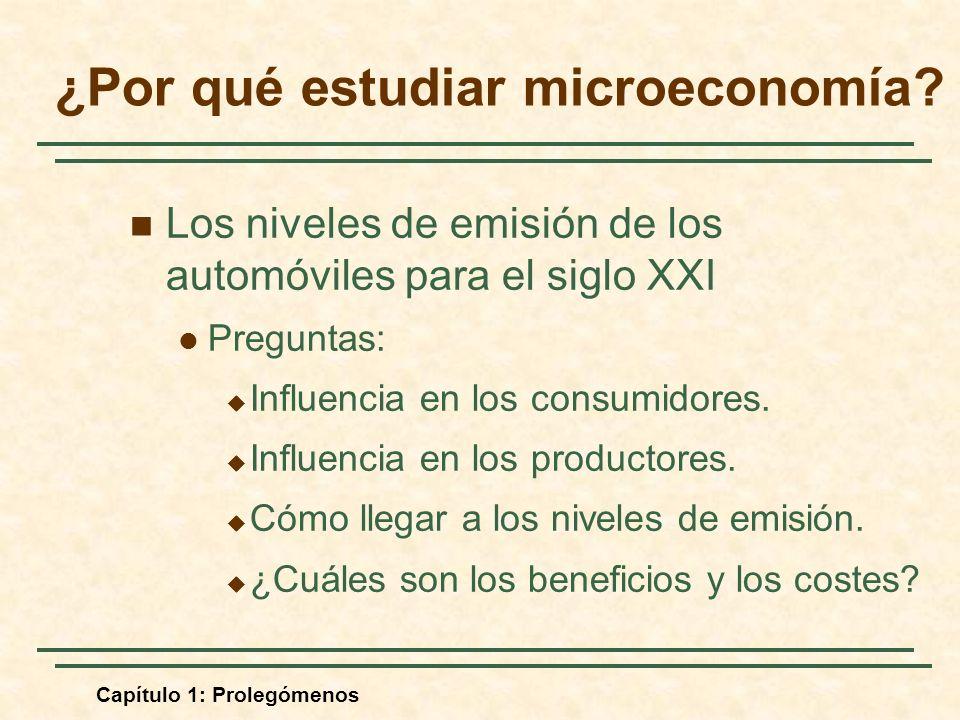 ¿Por qué estudiar microeconomía