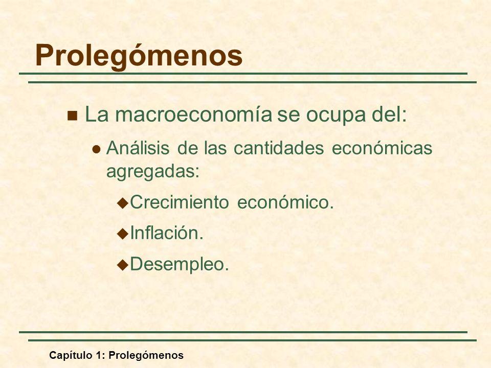 Prolegómenos La macroeconomía se ocupa del: