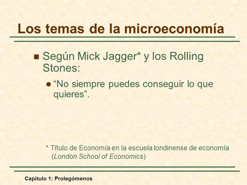 Los temas de la microeconomía
