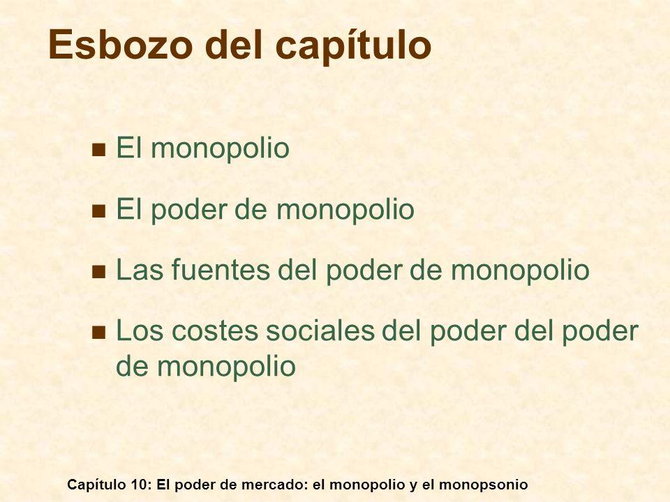 Esbozo del capítulo El monopolio El poder de monopolio