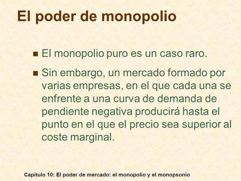 El poder de monopolio El monopolio puro es un caso raro.