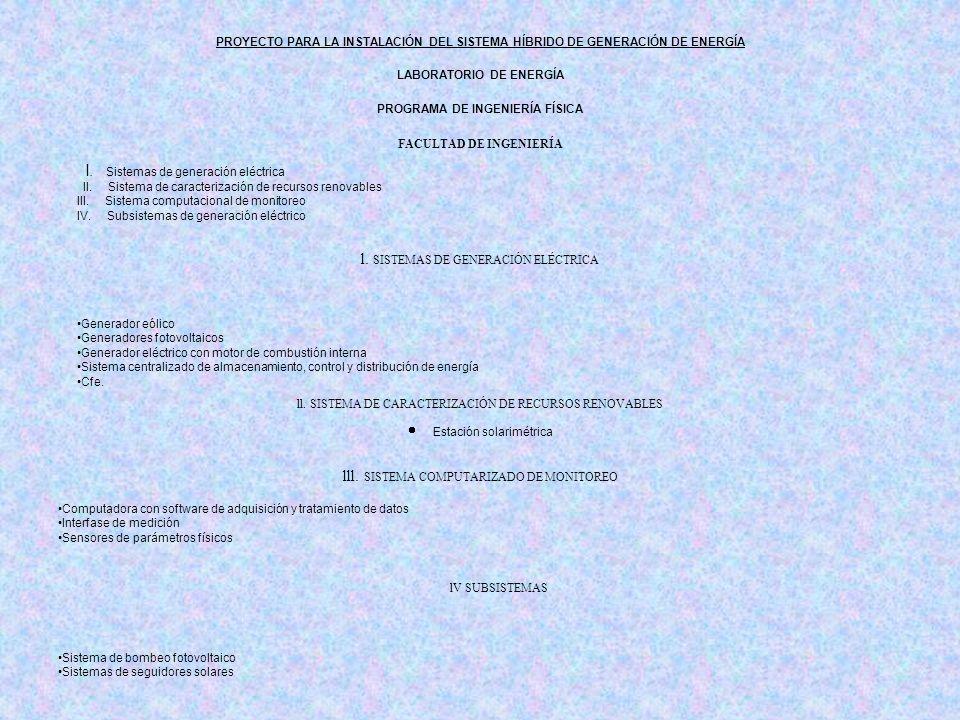 l. SISTEMAS DE GENERACIÓN ELÉCTRICA