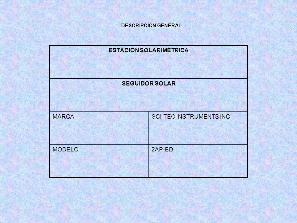 ESTACION SOLARIMÉTRICA