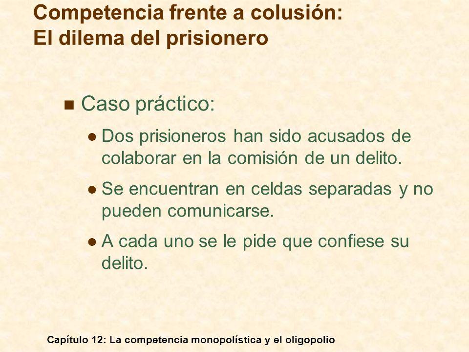 Competencia frente a colusión: El dilema del prisionero