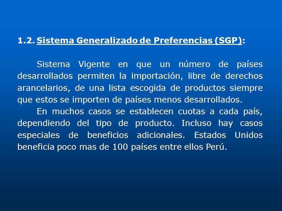 1.2. Sistema Generalizado de Preferencias (SGP):