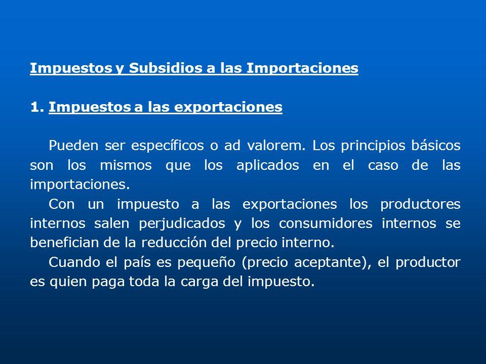 Impuestos y Subsidios a las Importaciones
