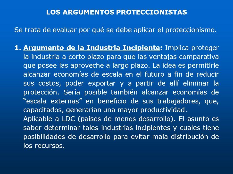 LOS ARGUMENTOS PROTECCIONISTAS