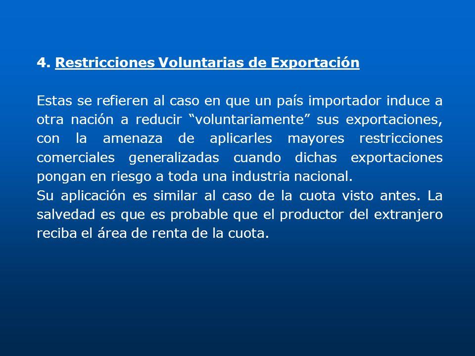 4. Restricciones Voluntarias de Exportación