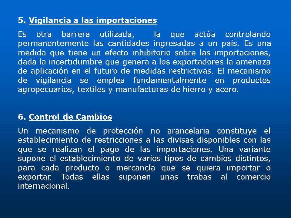 5. Vigilancia a las importaciones