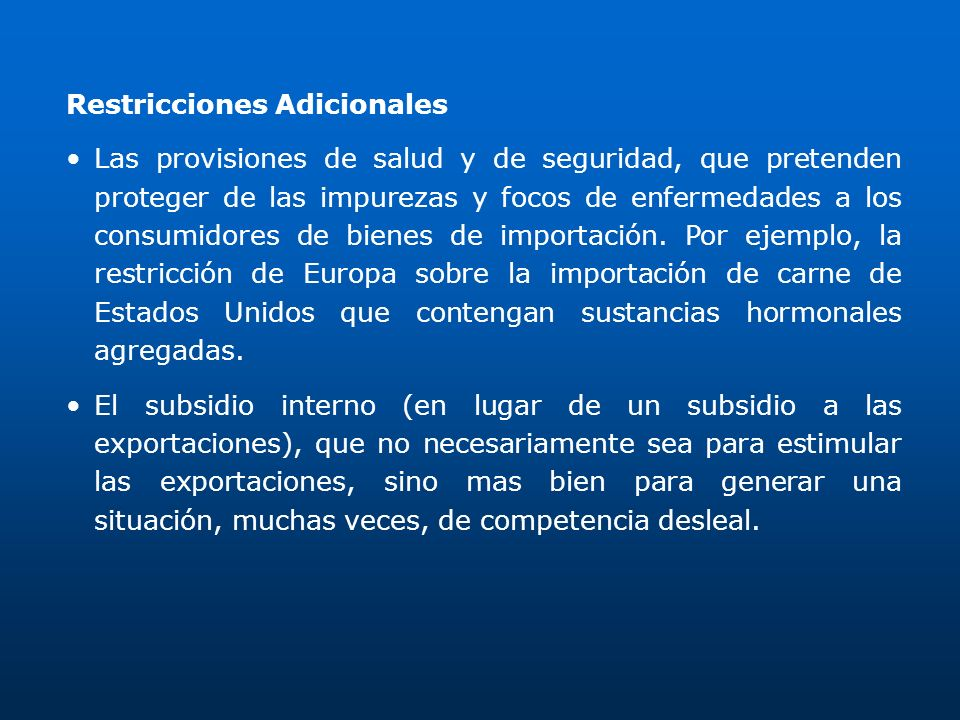Restricciones Adicionales