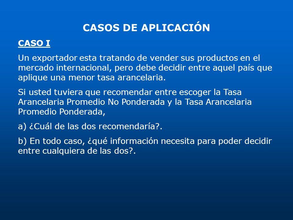 CASOS DE APLICACIÓN CASO I