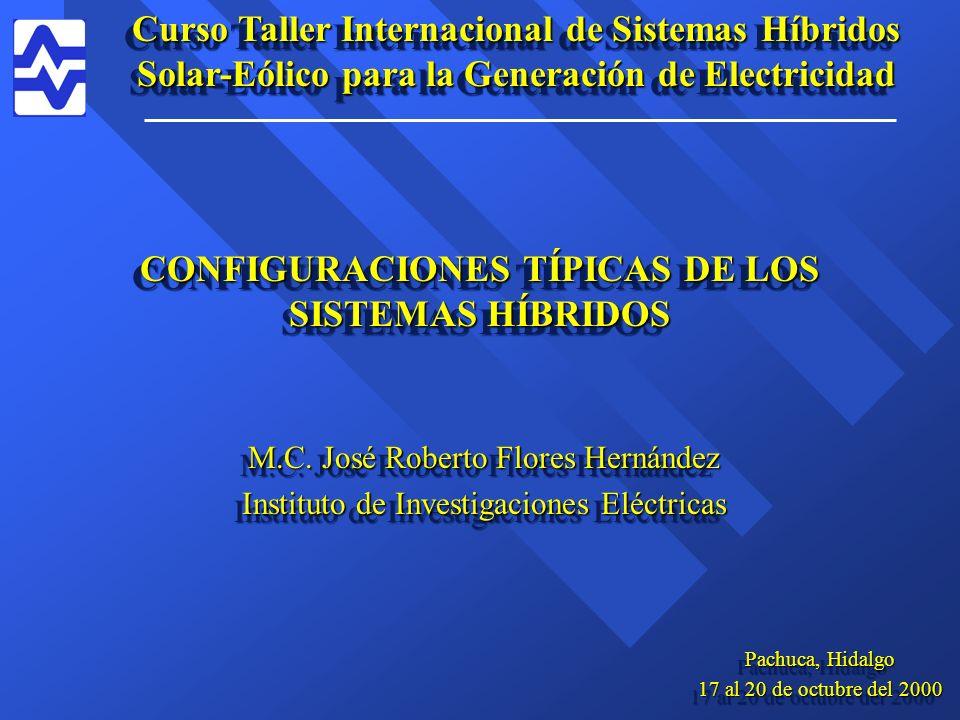 CONFIGURACIONES TÍPICAS DE LOS SISTEMAS HÍBRIDOS