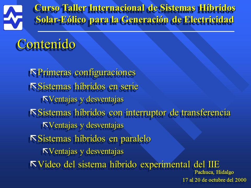 Curso Taller Internacional de Sistemas Híbridos Solar-Eólico para la Generación de Electricidad