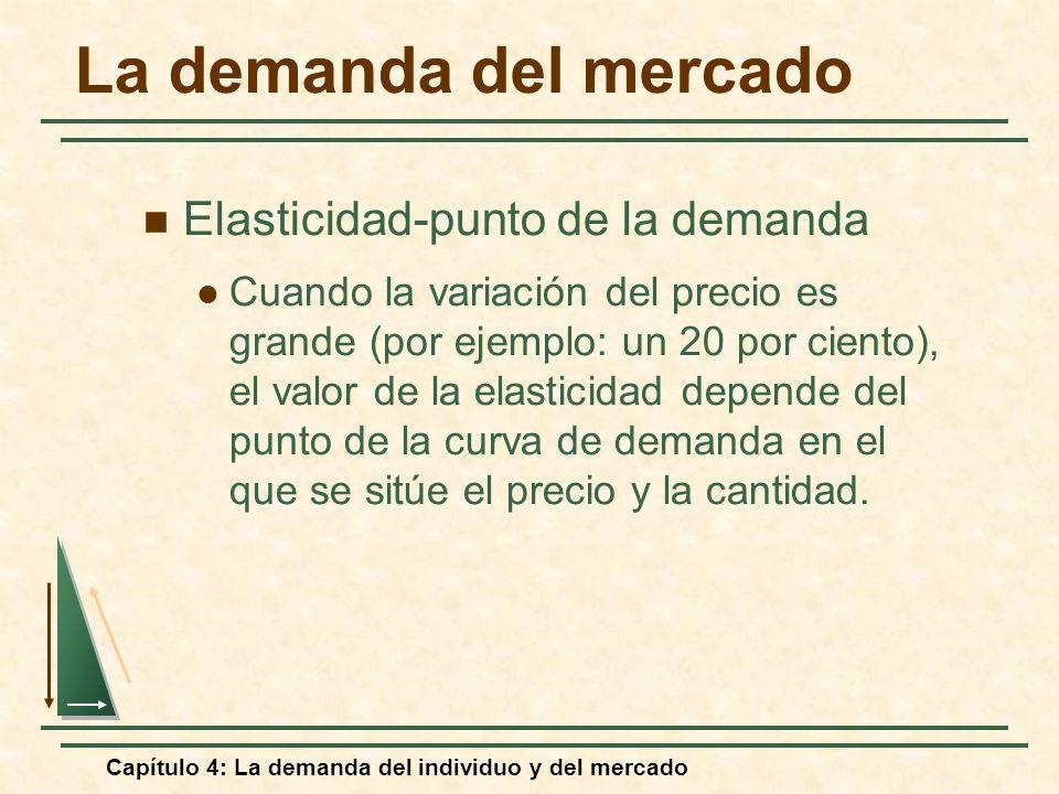 La demanda del mercado Elasticidad-punto de la demanda