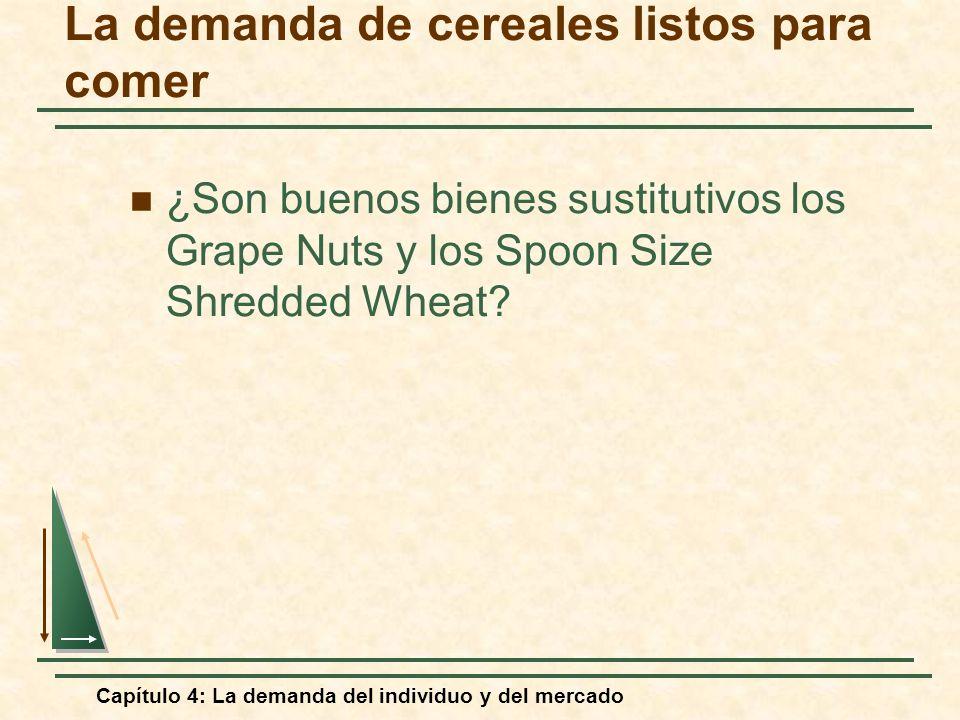 La demanda de cereales listos para comer