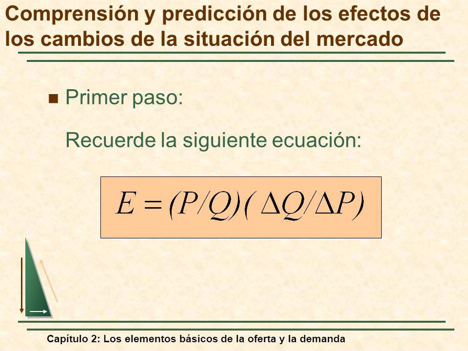 Recuerde la siguiente ecuación: