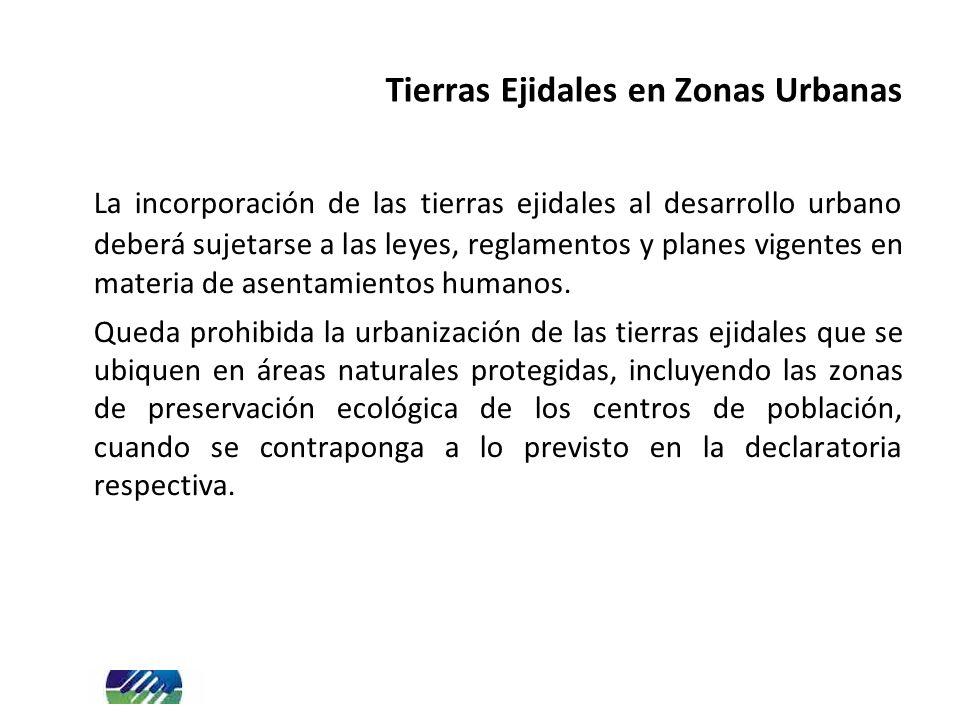 Tierras Ejidales en Zonas Urbanas