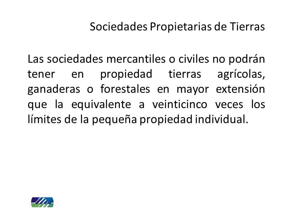 Sociedades Propietarias de Tierras