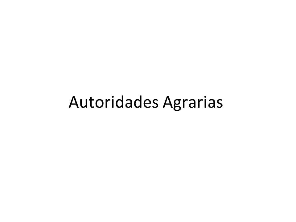 Autoridades Agrarias