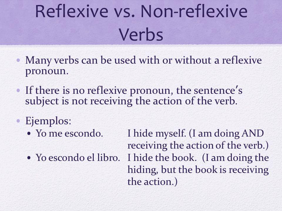 Reflexive vs. Non-reflexive Verbs
