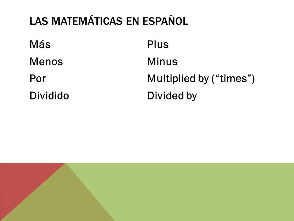 Las matemáticas en español