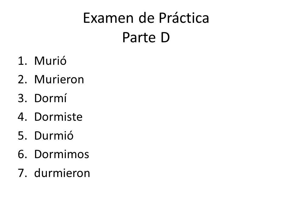 Examen de Práctica Parte D