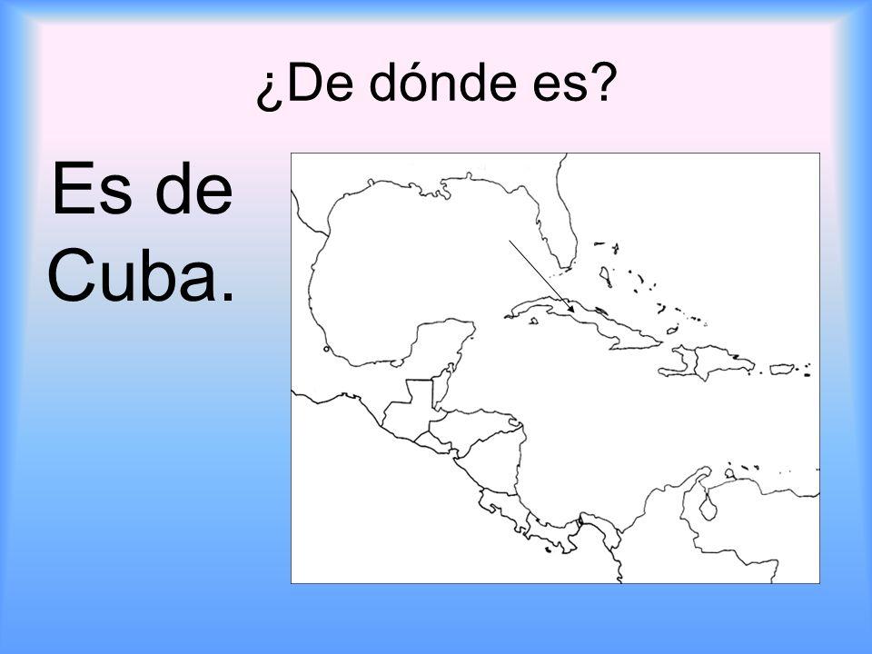¿De dónde es Es de Cuba.