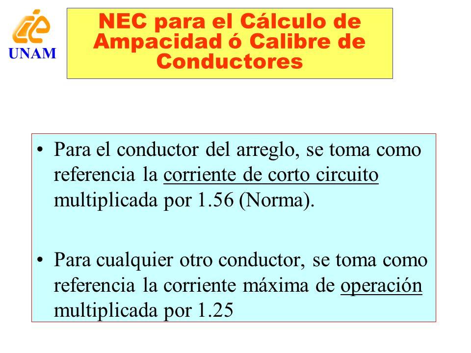 NEC para el Cálculo de Ampacidad ó Calibre de Conductores